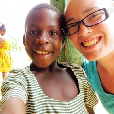 Emily O in Ghana